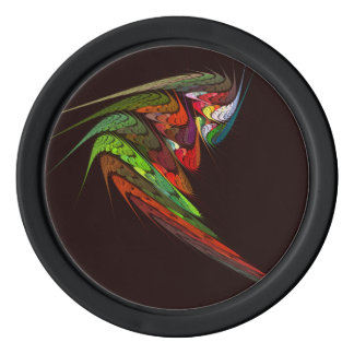 Chameleon Abstract Art Poker Chips