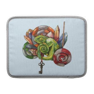 chameleon and crystals MacBook sleeve