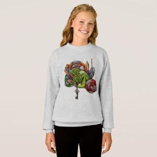 chameleon and crystals sweatshirt