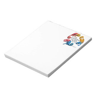 Chameleon Animal Character With Quote Notepad