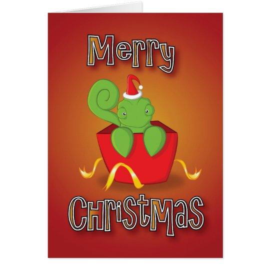 chameleon - box - merry christmas card