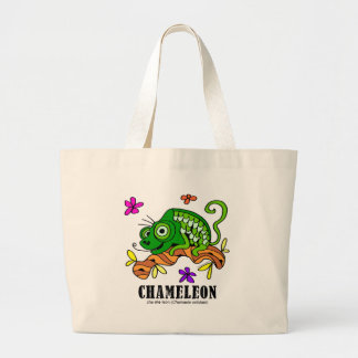 Chameleon by Lorenzo © 2018 Lorenzo Traverso Large Tote Bag