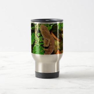 Chameleon Camouflaging Brown Travel Mug