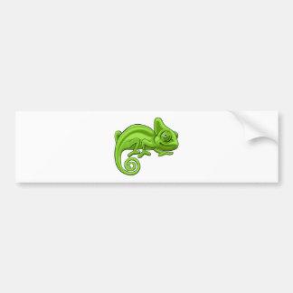Chameleon Cartoon Character Bumper Sticker