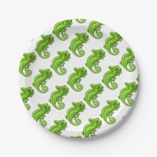 Chameleon Cartoon Character Paper Plate