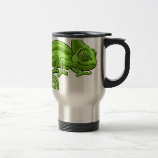Chameleon Cartoon Character Travel Mug