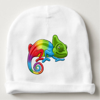 Chameleon Cartoon Rainbow Character Baby Beanie