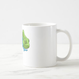 Chameleon Cartoon Rainbow Character Coffee Mug