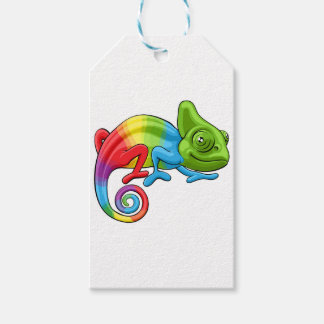 Chameleon Cartoon Rainbow Character Gift Tags