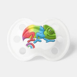 Chameleon Cartoon Rainbow Character Pacifier