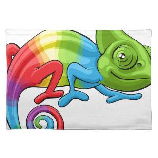 Chameleon Cartoon Rainbow Character Placemat