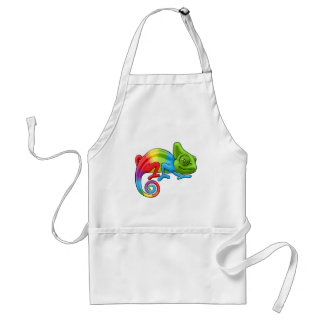 Chameleon Cartoon Rainbow Character Standard Apron