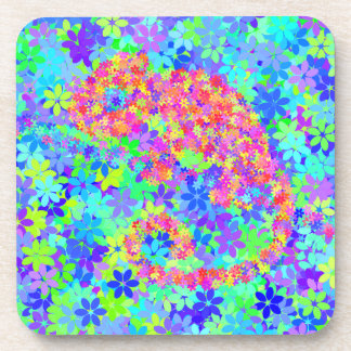CHAMELEON flower camouflage Coaster