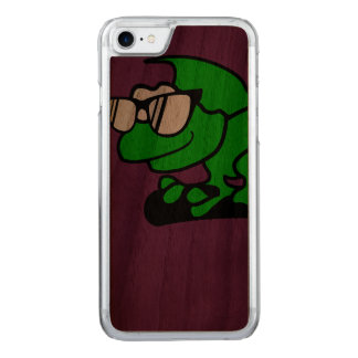 Chameleon hipster cool animal designs. carved iPhone 7 case