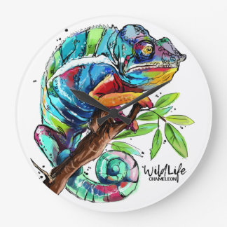 """Chameleon"" Large Clock"