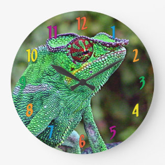 Chameleon Large Clock