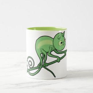 Chameleon On The Prowl Two-Tone Coffee Mug