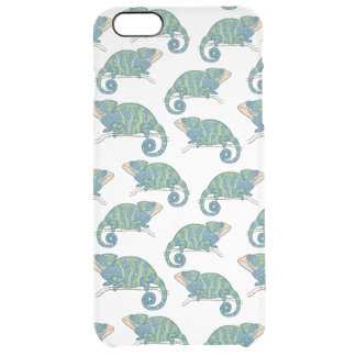 Chameleon Pattern Clear iPhone 6 Plus Case