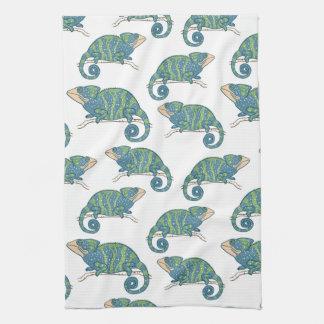 Chameleon Pattern Hand Towel