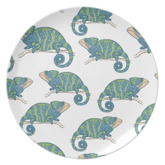 Chameleon Pattern Party Plate