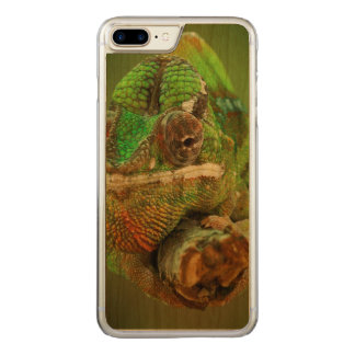 Chameleon Photo Carved iPhone 7 Plus Case
