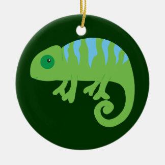 Chameleon Round Ceramic Ornament