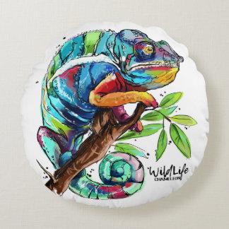 """""""Chameleon"""" Round Pillow"""