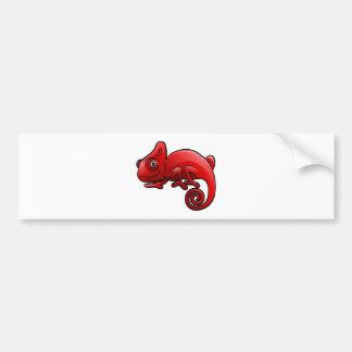 Chameleon Safari Animals Cartoon Character Bumper Sticker