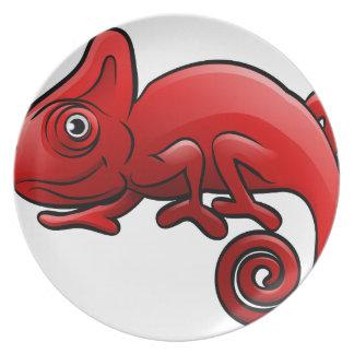 Chameleon Safari Animals Cartoon Character Plate