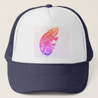 Chameleon Skeleton Trucker Hat