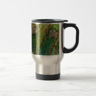 chameleon skin texture travel mug