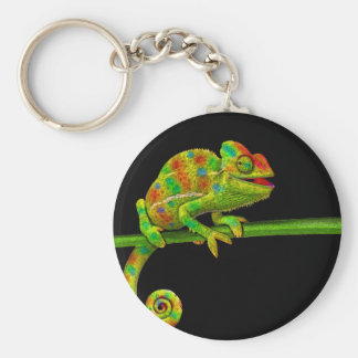 Chameleons Basic Round Button Keychain