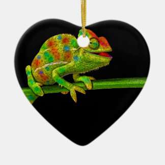 Chameleons Ceramic Ornament