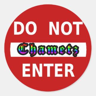 CHAMETZ - DO NOT ENTER CLASSIC ROUND STICKER