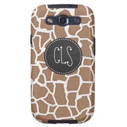 Chamoisee Giraffe Animal Print; Chalkboard look Galaxy S3 Covers