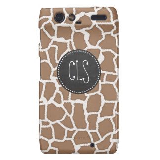 Chamoisee Giraffe Animal Print; Chalkboard look Droid RAZR Covers