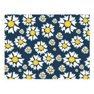 Chamomile flower pattern postcard