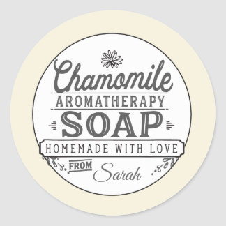 Chamomile Soap Labels Stickers