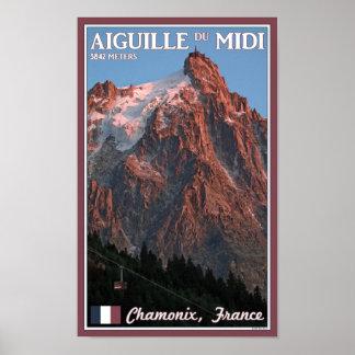 Chamonix - Aiguille du Midi Poster