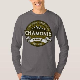 Chamonix France Olive T-Shirt