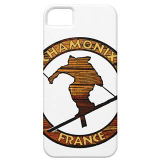 Chamonix France rustic wood skier design Case For The iPhone 5