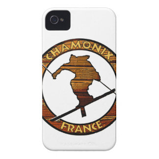 Chamonix France rustic wood skier design iPhone 4 Cover