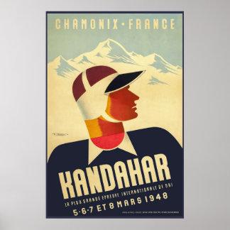 Chamonix, France, Ski Poster