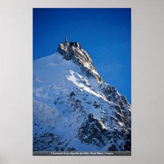 Chamonix from Aiguille de Midi, Mont Blanc, France Poster