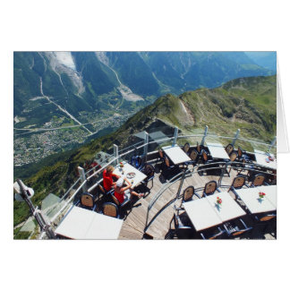 Chamonix in the valley, French Alps Card