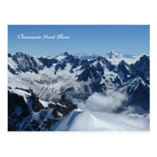 Chamonix Mont Blanc French Alps Postcard