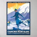 Chamonix Mont Blanc Skating Poster