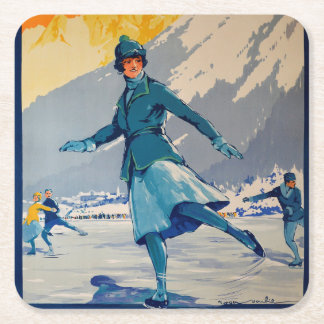 Chamonix – Mont Blanc Square Paper Coaster
