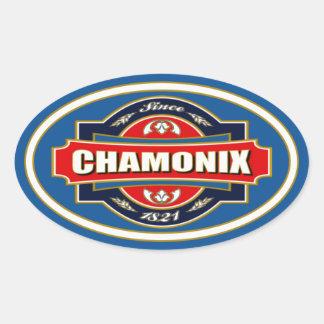 Chamonix Old Label Oval Sticker