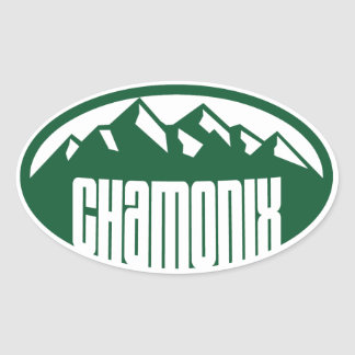 Chamonix Oval Oval Sticker